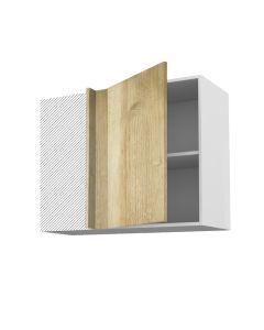 Meuble angle haut chêne golden 90 cm + façade 1 PORTE 50 cm