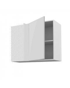 Meuble angle haut cirrus blanc 90 cm + façade 1 PORTE 50 cm