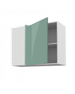 Meuble angle haut cirrus vert 90 cm + façade 1 PORTE 50 cm
