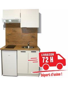KITCHENETTE BLANCHE 120CM pour réfrigérateur 48cm
