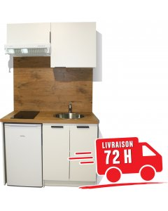 KITCHENETTE BLANCHE 120CM pour réfrigérateur 55cm