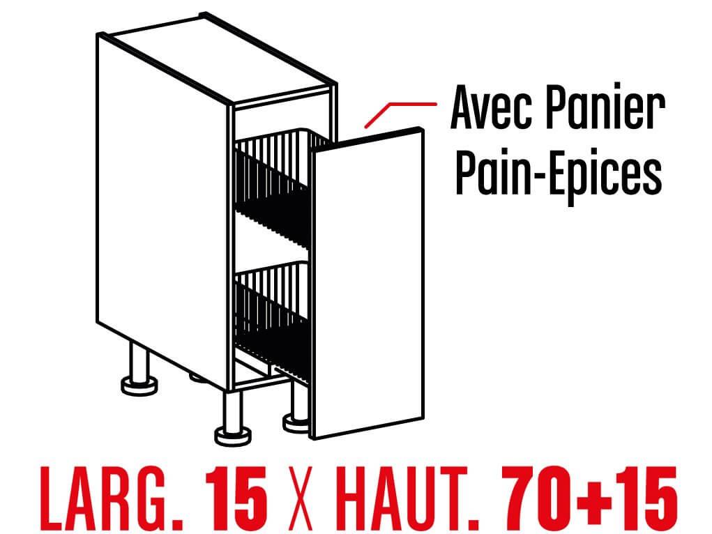Meuble Bas Panier Pain Epices 15cm Tg